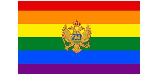 Montenegro Regenboogvlag