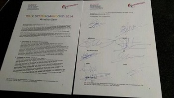 Roze Stembusakkoord Amsterdam getekend - 17 maart 2014