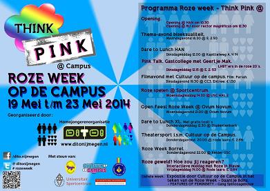 DITO - Think Pink - Roze Week Campus 2014 Programma