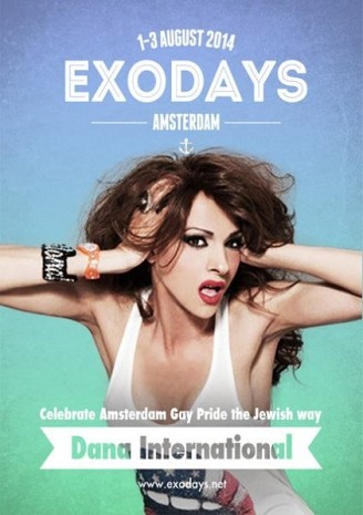 EXODAYS 1 - Joodse Boot Canal Parade 2014 met DIVA INTERNATIONAL