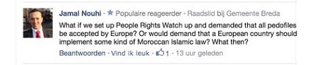 Tweets Jamal Nouhi over veroordeling homo's Marokko - 10 juli 2014 B