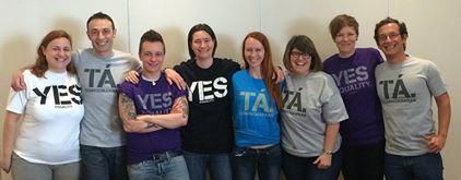 ILGA-Europe - bestuur met Joyce Hamilton (2de rechts) - YES wint Marriage Referendum Ierland - 23 mei 2015