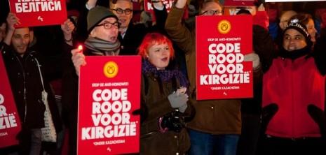 COC Demonstratie Kirgizie Homomonument foto Neeltje Knaap