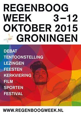 Regenboogweek Groningen 2015 flyer