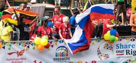 Vluchtelingenboot Canal Parade 2015 - CC-Eelco van Loo