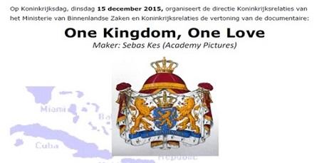 One Love One Kingdom - ministerie BZK - Koninkrijksdag 2015 klein