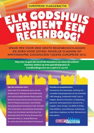EuroPride Vlaggenactie FLYER