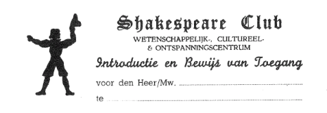 uitnodiging shakespeare club