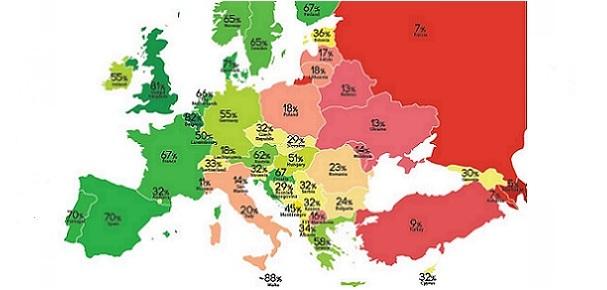 ILGA-Europe Rainbow Map 2016 STICKY A
