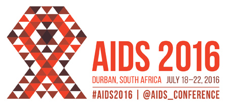 AIDS2016 - internationale aidsconferentie 2016 DURBAN Zuid-Afrika LOGO