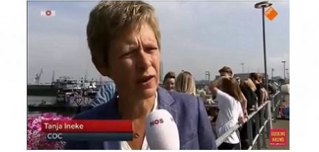 NOS Journaal 6 augustus 2016 - COC-voorzitter Tanja Ineke over EuroPride Amsterdam Canal Parade STICKY
