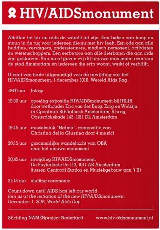 aidsmonument-amsterdam-programma-onthulling-1-december-2016